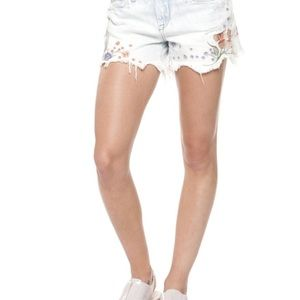 Dex floral embroidered shorts